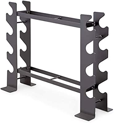 Without Dumbbells Broadsheet 3 Tier Dumbbell Rack Strength Training Dumbbell Racks for Home Gym Organization Workout Fitness Equipment Accessories Compact Weight Rack Holds 22 Pounds