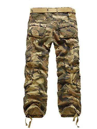 Militari Multiuso Erdige Pantaloni Uomo Tarnung Semplice Regolari Stile Da Lavoro 6Ov0q