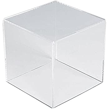 56c22734e425 Amazon.com: N'ice Packaging 1 Piece Acrylic Cube with Removable top ...