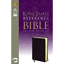 KJV, Reference Bible, Giant Print, Personal Size, Bonded Leather, Black, Red Letter Edition