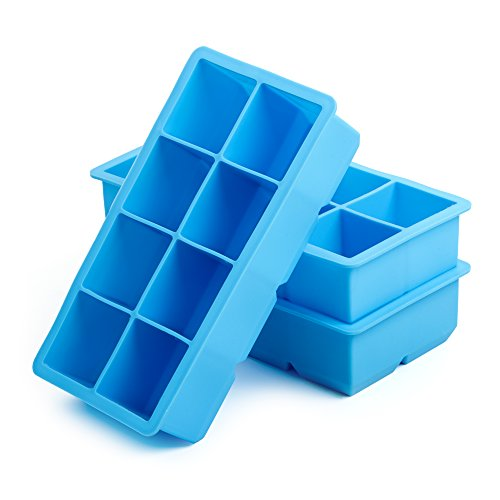 California Home Goods CHG-IT1 2-Inch Silicone Ice Cube Tray (3 Pack)