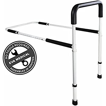 Medical Adjustable Home Bed Rail Handle & Hand Guard Assist Bar for Adults and Seniors, Bed Safety and Stability