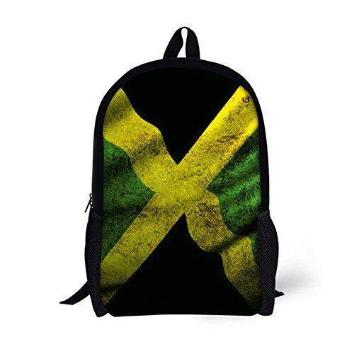 Jamaica Flag Jamaican Print Backpack For Girls Boys Book School Bags