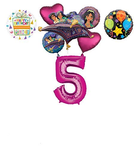 Mayflower Products Aladdin 5th Birthday Party Supplies Princess