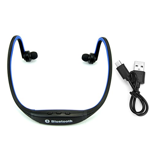 Wireless Bluetooth Headphones - Powerful Bass Surround Stereo Multimedia Headset Music Earphone Use For Running Jogging In Light Weight For IPhone Android PC TV DVD MP3 By Sixsons