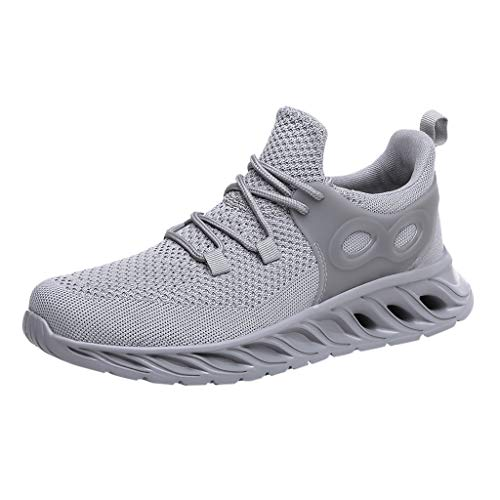 - Londony Women/Mens Air Trainers Fitness Casual Athletic Sneakers Running Shoes Tennis Shoe Walking Baseball Jogging Gray