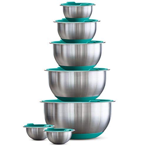Large Aqua Bowl - Tramontina 14-Piece Covered Stainless-Steel Mixing Bowl Set - Aqua