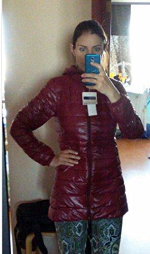 Femme Légère 44 Grande Bordeaux Plume Ultra Doudoune Légère Veste Taille Veronique Bordeau Femme 0a7gwz4q