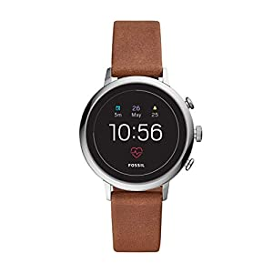 Fossil Gen 4(40mm, brown) ventura Leather Touchscreen Women's Smartwatch with Heart Rate, GPS, Music storage and…