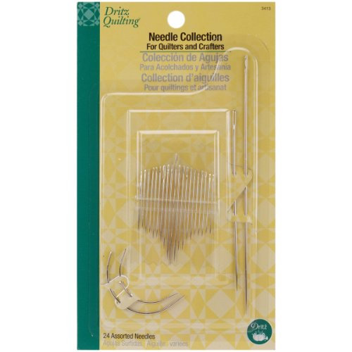 Dritz 3413 Needle Collection for Quilters & Crafters, Assorted Sizes & Styles (24-Count) ()
