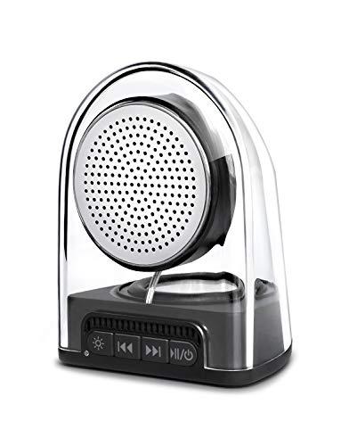 VantInter S2 Mini Speaker Bluetooth with Loud Sound, Portable Wireless Desktop Computer Speakers, Extra Bass, Outdoor Waterproof, LED Light, 1 PCS