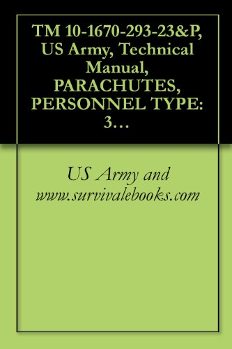 TM 10-1670-293-23&P, US Army, Technical Manual, PARACHUTES, PERSONNEL TYPE: 35-FOOT DIAMETER, T-10C TROOP BACK PARACHUTE ASSEMBLY, NSN 1670-01-248-9502, ... ASSEMBLY, NSN 1670-01-484-2234, 2001 (10c Dvd)