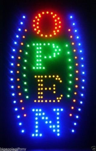 Large Vertical Animated Business LED Open Sign W. Motion On/