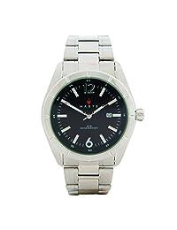 Haste 112421732 Reloj Redondo, Análogo, color Negro y Plata