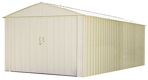 Arrow Commander Mountaineer High Gable Steel Storage Building, Eggshell, 10 x 25 ft.
