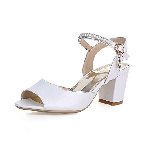 US Fashion 1TO9 White B M Solid 8 Material Sandals Soft Girls 6vq4vAx1