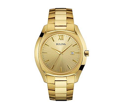 Bulova-Mens-97B146-Analog-Goldtone-Watch