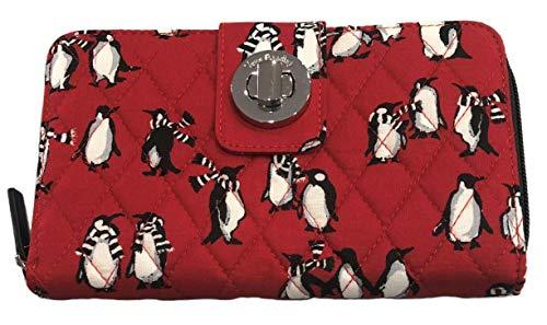 Vera Bradley Turnlock Wallet (Playful Penguins Red)