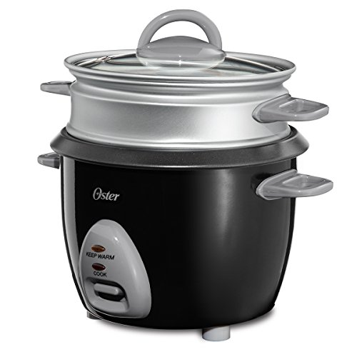 Oster 6-Cup Rice Cooker with Steam Tray, Black (CKSTRCMS65)