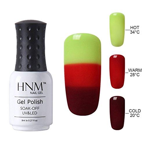 HNM Thermal Temperature Color Changing Gel Nail Polish Soak Off UV LED Nail Lacquer