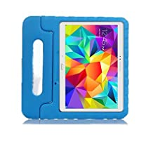 Samsung Galaxy Tab S 10.5 Kids Case - Lumcrissy Light Weight EVA Shock Proof Kids Super Protection Cover Handle Stand Kids Friendly for Samsung Tab S 10.5-Inch Tablet SM-T800 / SM-T805 /SM-T807 (Blue)