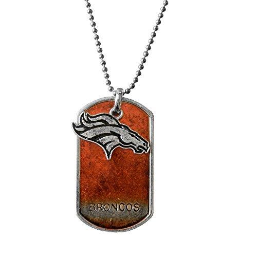 NFL Denver Broncos Dog Tag Charm Necklace