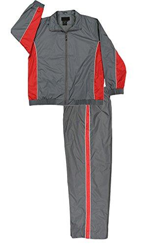 Men's Nylon Full Zip Mesh Running Track Suit - Mens Running Suit