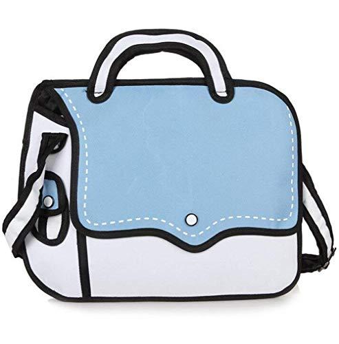Stile Moontang Dimensione per Arancia tracolla Colore da Disegno 2D in a Salto 2D Blu Comic borsa donna 6FqtZrFn