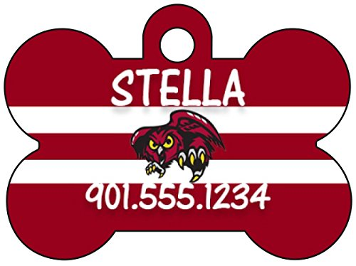 American Athletic Conference Football Dog Tag Pet Id Tag Cat Tag Personalized w/Name & Number (Temple Owls) ()