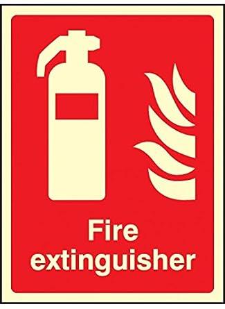 Caledonia Signs 41013E - Señal de extintor de incendios (200 ...