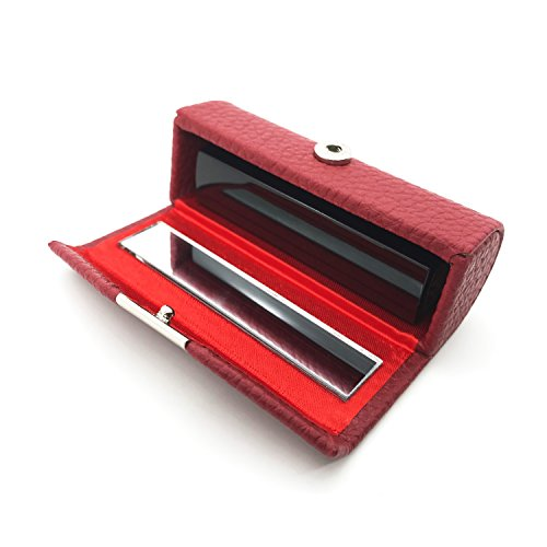 HUNGER Leather Lipstick Case Holder With Mirror (Q55901)