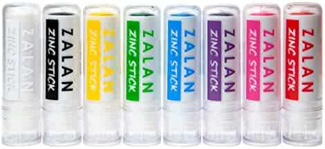 Zalan Zinc Stick - Colored Zinc Sticks for Face and Body Paint - Set of 8
