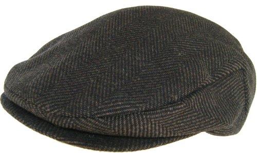 Headchange Made in USA Wool Ivy Scally Cap Newsboy Hat (Medium)