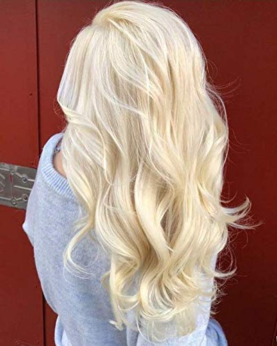 Sunny 16'' 120g Full Head One Piece Straight Clip in U Part Wigs Human Hair Color #613 Bleach Blonde Remy Brazilian U Part Wig Real Hair Lace Wig by Sunny Hair