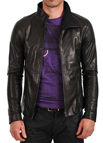 Junction Chaqueta Hombre Leather Negro Para Y1ww8