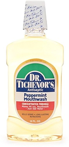 (Dr. Tichenor's Antiseptic Mouthwash, Peppermint 16 oz (Pack of 2))