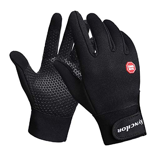 1Pair [ Winter Wind Proof Glove -Riding Warm Mountain Climbing Outdoor Mitten ] - Outdoor/Camping/Cycling/Motorcycle/Hiking/Skiing/Riding (Fashion Black) ()