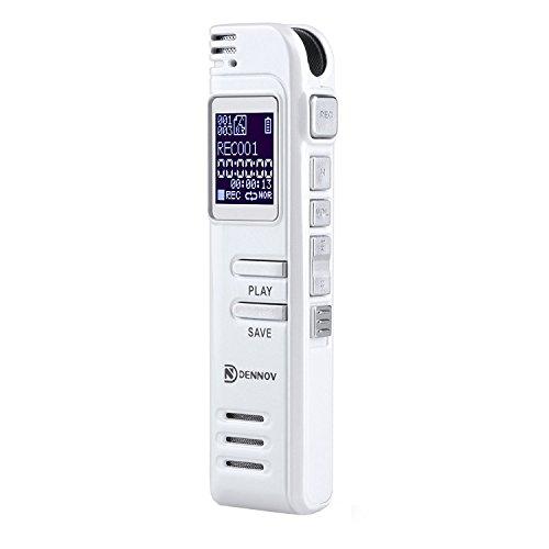 Digitales Diktiergerät Aufnahmegerät, Dennov 8GB Digitalrecorder mit USB, mp3 player & Mikrofon für Sitzungen / Meetings / Interviews / Vorlesungen
