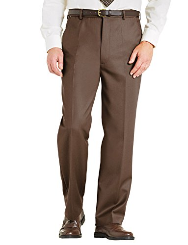 Chums Mens High Waisted Wool Blend Cavalry Twill Trouser Pants Waist Adjusters