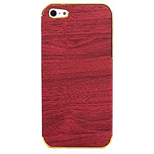 Fashionable Wood Grain Pattern Back Case for iPhone 5/5S Phone cases ,Color: Blue