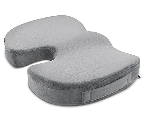 - ANTEQI Memory Foam Seat Cushion for Office Chair Car Seat Wheelchair Aircraft Multipurpose Back Pain Relief Sciatica