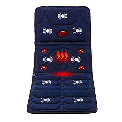 CHNG Massager Mat with Heat,5 Large Infrared Warm Lamps hot kneading Massage,8 Vibration Motors Massage Mattress Pad, Full Body Massager Cushion Relieve Neck, Back, Waist, Legs Pain ()