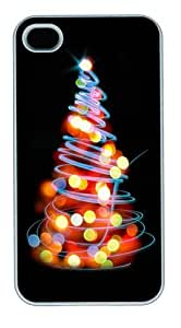 Glowing Lights Christmas Tree Illustration Polycarbonate Hard For Samsung Galaxy S6 Case Cover White New Year gift