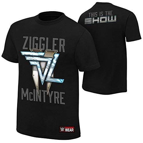 Dolph Ziggler Cheerleader (WWE AUTHENTIC WEAR Dolph Ziggler & Drew McIntyre This is The Show T-Shirt Black Extra)