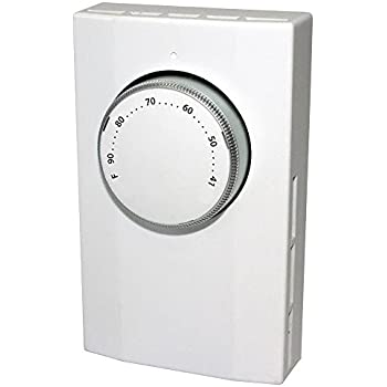 King Electric K101-C Bi-Metal Cooling Thermostat, Line Voltage, 1-Pole, 120-277V, 22 Amp