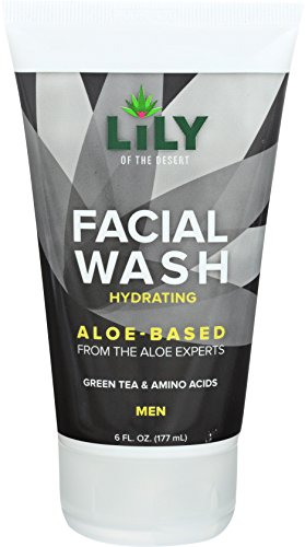 Lily of the Desert Aloe Based Moisturizing and Hydrating Facial Wash with Green Tea and Amino Acids for Men, 6 Fl. Oz.