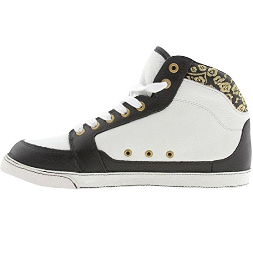 Gravis Lowdown Hi-Cut Leather Shoe - Womens White / Black iX0UFq