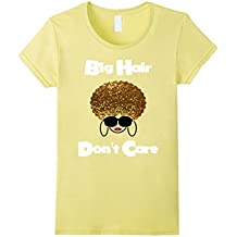 Big Hair Don't Care Shirt - Curly Hair Gold Glam