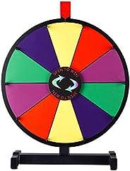 "WinSpin 15"" Prize Wheel 10 Slots Clicker Tabletop Spin Dry Erase Marker & Eraser Fortune Game Tradesh"
