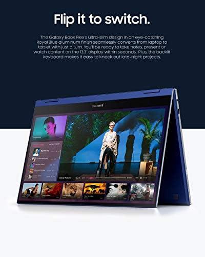 "Samsung Galaxy Book Flex 13.3"" Laptop|QLED Display and Intel Core i7 Processor|8GB Memory|512GB SSD|Long Battery Life and Bluetooth-Enabled S Pen|(NP930QCG-K01US),Royal Blue"